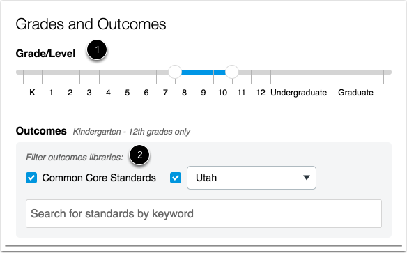 Agregar cursos y resultados