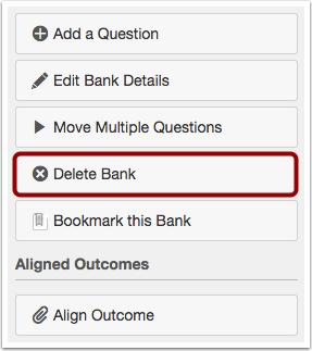 Delete Question Bank
