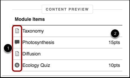 Vista previa del contenido del módulo