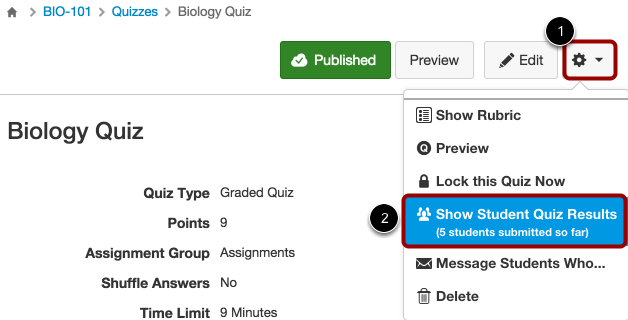 Add Extra Attempts through Student Quiz Results