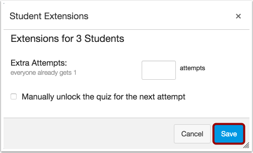 Give Multiple Students Extensions