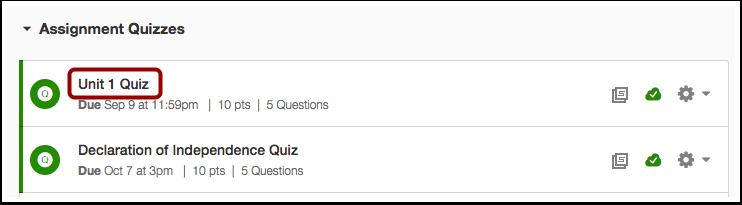 Locate Quiz Link