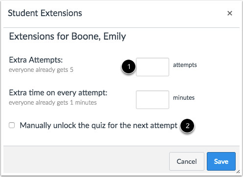 Give Student Extension