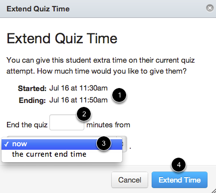 1- Extend Quiz from Now