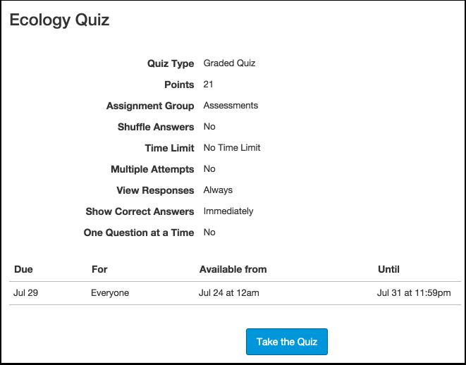 View Quiz