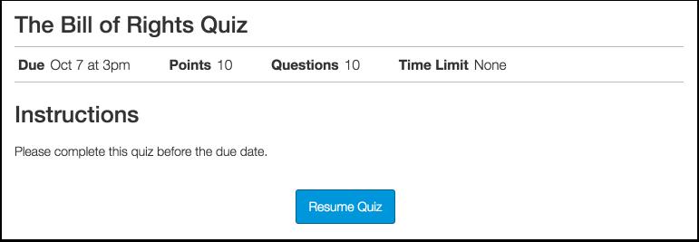 Resume Quiz