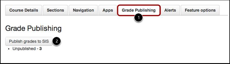 Open Grade Publishing Tab
