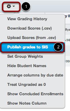 Publish grades to SIS
