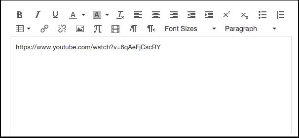 Insérer un lien dans l'éditeur de texte enrichi