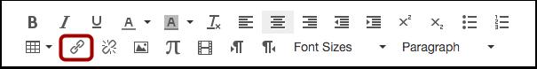 Insérer le lien avec l'icône hyperlien