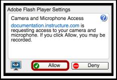 Autoriser l'accès d'Adobe Flash Player