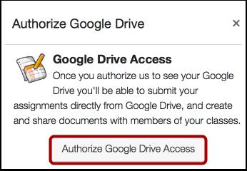 Autoriser Google Drive