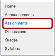 Click Assignments Link