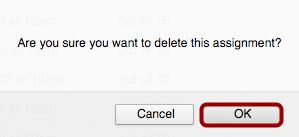 Delete Assignment