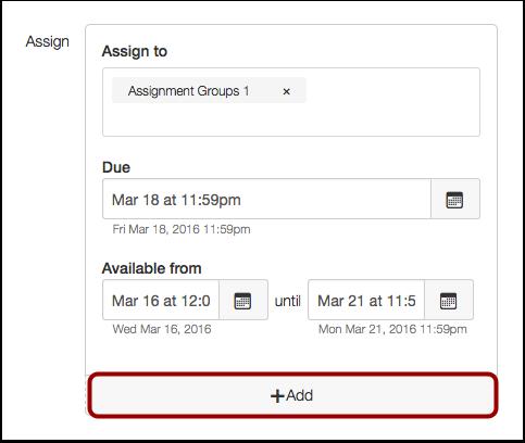 Add Additional Dates