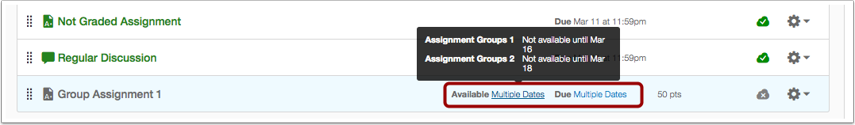 View Assignments Page