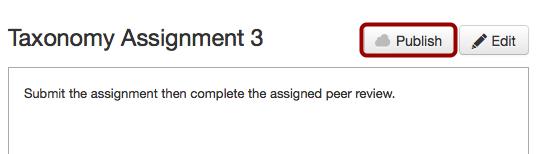 Publish Assignment