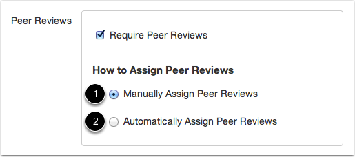Determine How to Assign Peer Reviews