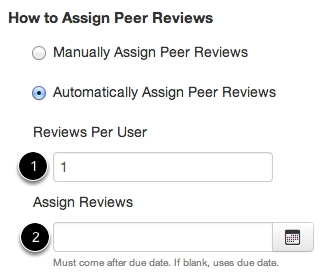 Automatically Assign Peer Reviews