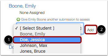 Select Student to Assign Review
