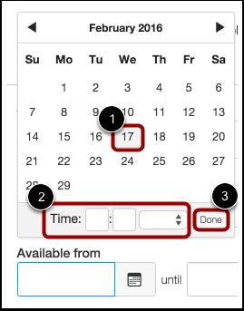 Set Date