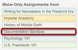 View Show Only Assignments From Only One Course