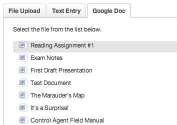 Upload a Google Doc