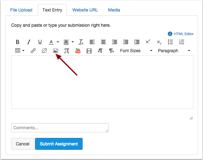 Open Embed Image Button