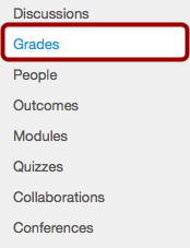 Open Grades from Course Navigation