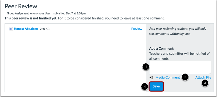 Add Assignment Comment