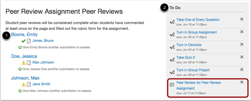 Assigning Peer Review Notifications