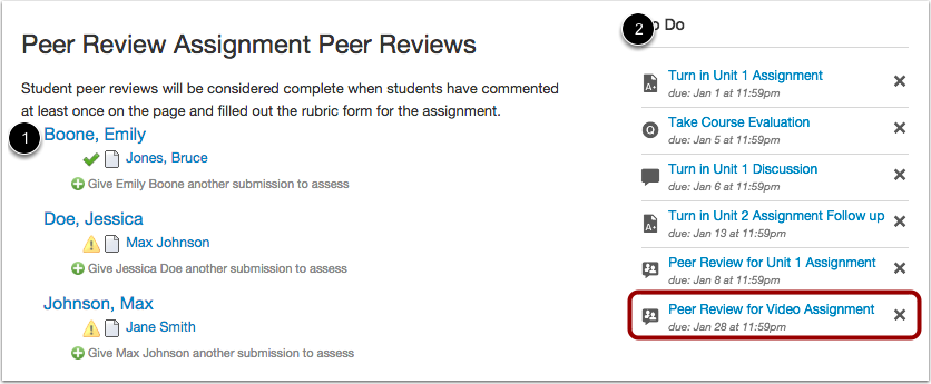Peer Review Assignments
