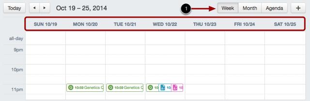 View Calendar by Week