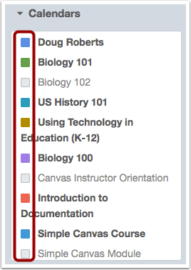Choose Courses to View