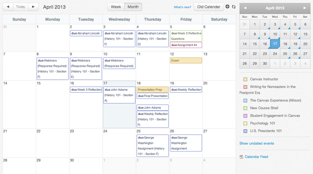 View Calendar