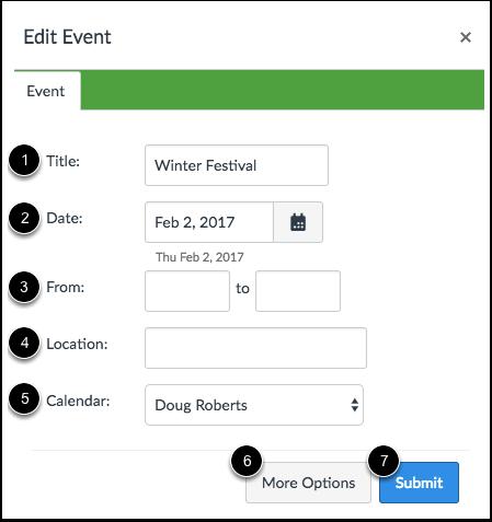 Edit Event Details