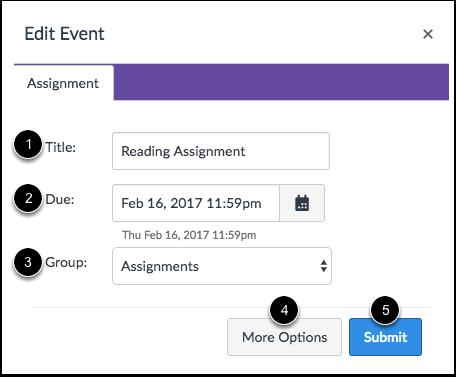 Edit Assignment Details