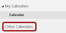 Right-Click Other Calendars