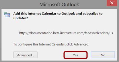 Confirm Calendar Subscription