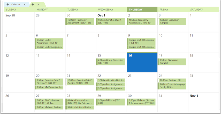 View Canvas Calendar in Outlook