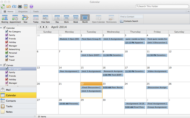 View Canvas Calendar