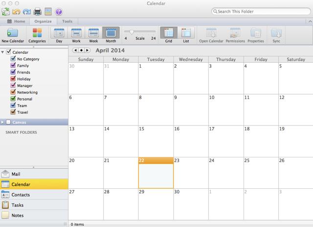 View Outlook Calendar