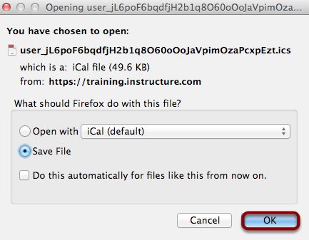 Save iCal File