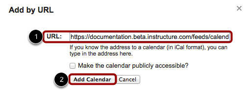 Add Calendar by URL
