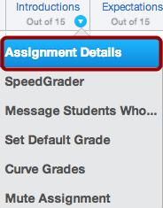 Open Assignment Details