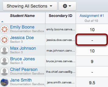 Locate Student Score