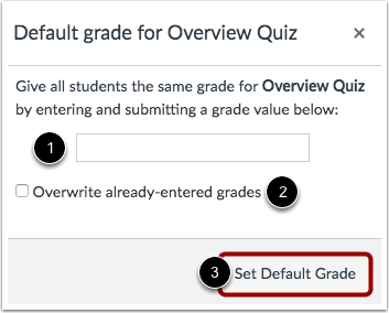 Create Default Grades