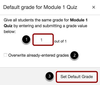 Create Default Grades