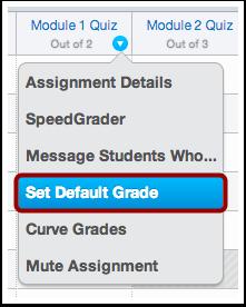 Set Default Grade