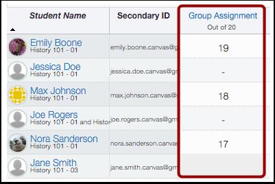 Assign Separate Grades